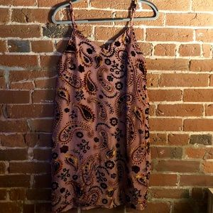 Pink Velvet Accent Dress (Size Small)